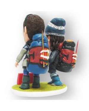 Just Married Hikers Custom Figurine