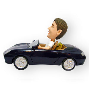Male Driving A Sportscar Figurine