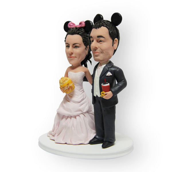 Mickey And Minnie Wedding Cake Topper Figurine