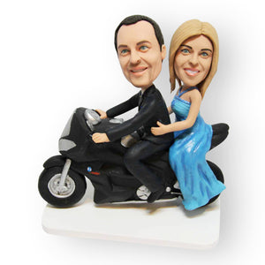 Motorbike Wedding Cake Topper Figurine