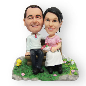 Park Bench Couple Figurine