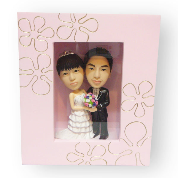 Pink Photo Frame Wedding Figurine