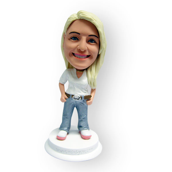 Pretty Girl In Jeans Figurine