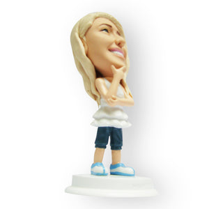 Pretty Girl Smiling Figurine