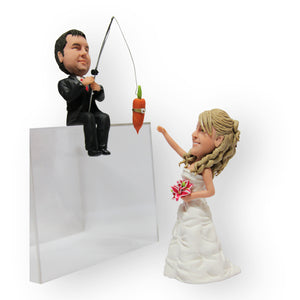 Reeling Her In Wedding Cake Topper Figurine