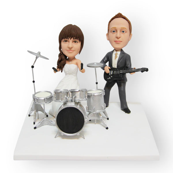 Rockstar Wedding Cake Topper Figurine