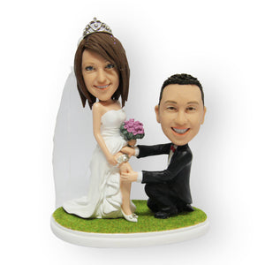 Showing The Garter Wedding Cake Topper Figurine