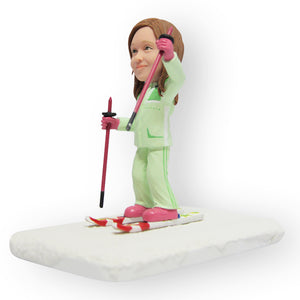 Skiing Daughter Figurine