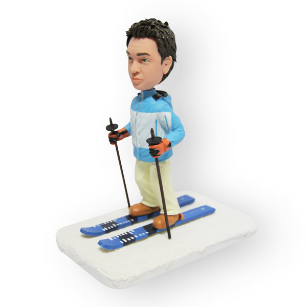 Skiing Father Figurine