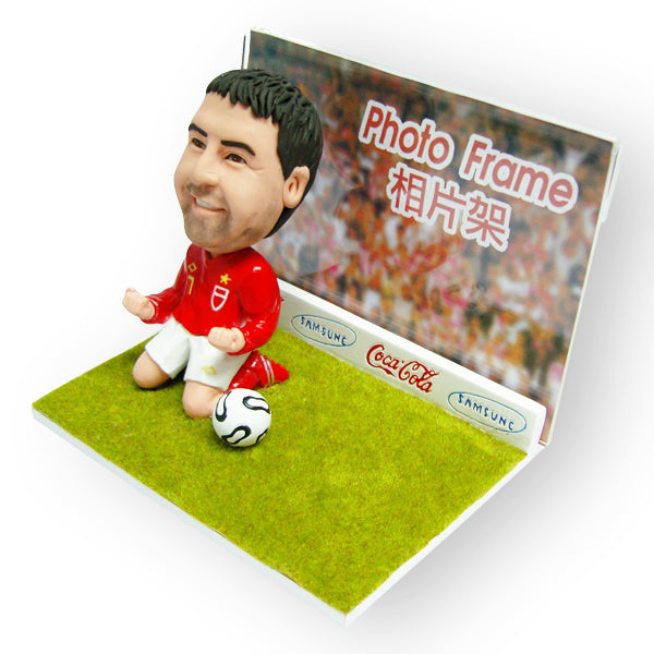 Soccer Goal Photo Frame Figurine