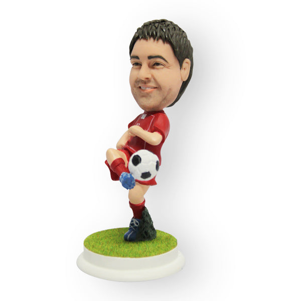 Soccer Player Dribbling Figurine