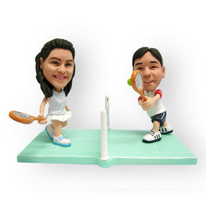 Tennis Couple Figurine