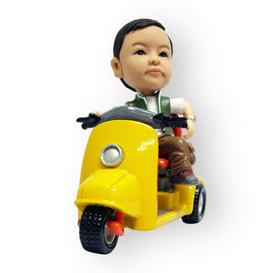 Vespa Riding Boy Figurine