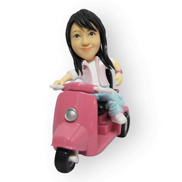 Vespa Riding Girl Figurine