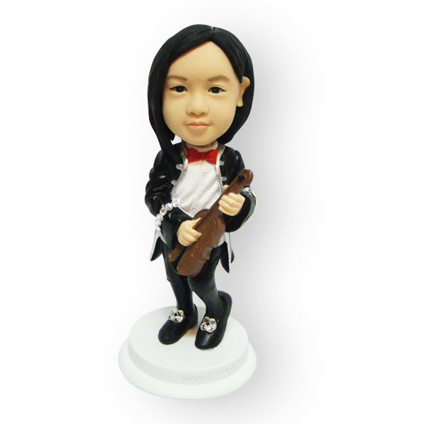 Violin Player Girl Figurine