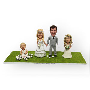 Family Wedding Cake Topper Figurine