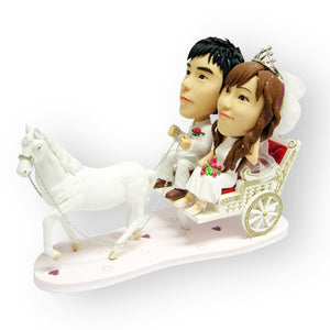 Wedding Horse Carriage Cake Topper Custom Figurine