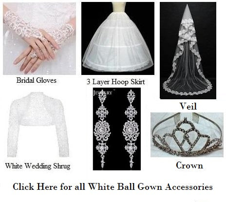 White Weeding Gown Accessories