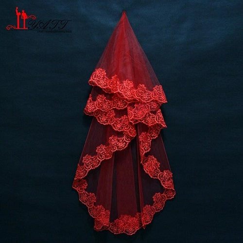 Red Small Veil