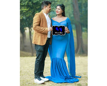 Load image into Gallery viewer, G207,(2) Navy Blue Maternity Shoot Baby Shower Trail Gown, Size (XS-30 to XL-44)