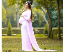 Load image into Gallery viewer, G156 (2),Pink Maternity Shoot Trail Baby Shower Gown, Size (XS-30 to XXL-44),