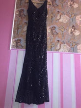 Load image into Gallery viewer, Black Mermaid Shimmer Cocktail Gown, Size (XS-30 to L-36)