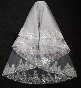 Small Embroidery Veil,