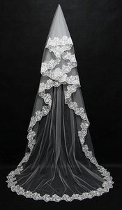 Long Embroidery Veil 3 Meter
