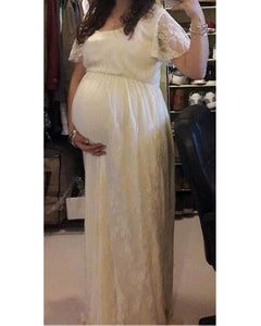 G83, Maternity Shoot Champagne Baby Shower Gown,  Size (XS-30 to XXXL-48)