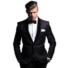 Load image into Gallery viewer, M1, Black Tuxedo blazer with Bow Tie, Size (Size (36 to 44))
