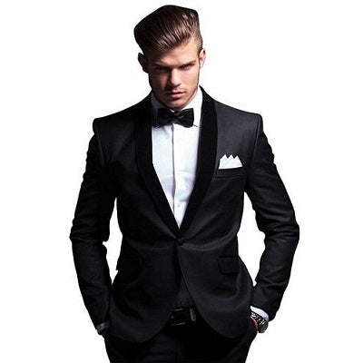 M1, Black Tuxedo with Bow Tie, Size (Size (36 to 44))