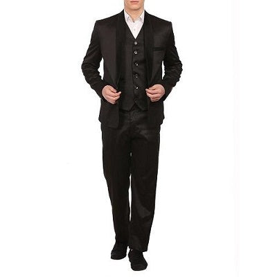 M17, Black Tuxedo 3Pc Suit, Size (38 to 42)