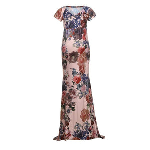 G40 Floral Maternity Baby Shower Dress, Size (XS-30 to XXL-42)