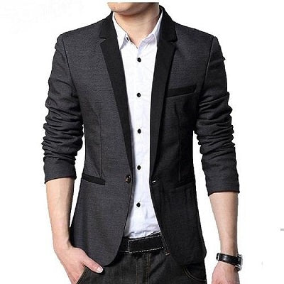 Grey Casual Blazer, Size (38 to 42)
