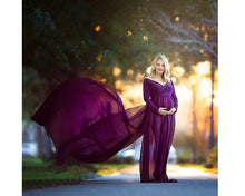Load image into Gallery viewer, G41 (6), Purple Maternity Shoot Trail Baby Shower Gown, Size (XS-30 to XXL-44)