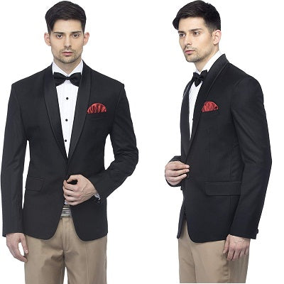 M24, Black Tuxedo with Bow Tie, Size (Size -  40