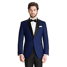 Load image into Gallery viewer, M2, Blue Tuxedo Blazer with Bow, Size (36 to 44)