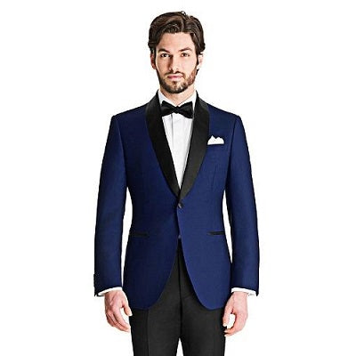 M2, Blue Tuxedo Blazer with Bow, Size (36 to 44)
