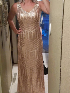 G86, Rose Gold Mermaid Cocktail Gown, Size (XS-30 to L-36)