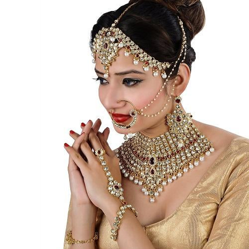 Bridal Jewellery Golden Maroon