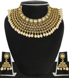 Pearl & Kundan Necklace Set
