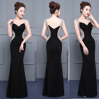 G33, Black Sweetheart Mermaid Cocktail Gown, Size (XS-30 to L-36)