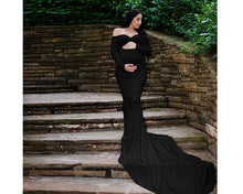 Load image into Gallery viewer, G159, Black Trail Gown, Size (XS-30 to XXL-44)