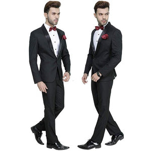 M25, Premium Black Tuxedo and Trouser set with Bow Tie, Size (Size -  40
