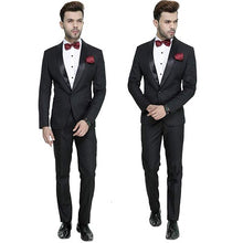 Load image into Gallery viewer, M25, Premium Black Tuxedo and Trouser set with Bow Tie, Size (Size -  40
