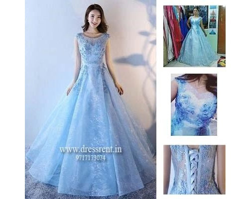 Sweet Sky Blue Ball Gown, Size (XS-30 to XL-40