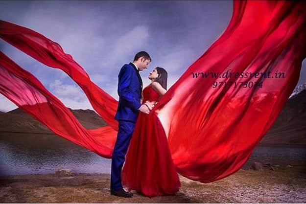 G127, Wine Prom Infinity Prewedding Shoot Trail Gown, Size, (XS-30 to XL-40)