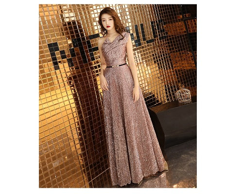 G151, Rose Gold Cocktail Gown, Size (XS-30 to L-36),