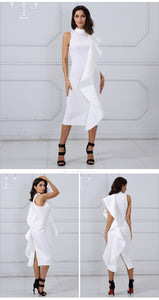 White Sleeveless Club Party dress,Size (XS-30 to L-38)