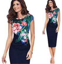 Load image into Gallery viewer, Sleeveless Flower Print Party Dress,Size (XS-30 to L-38)